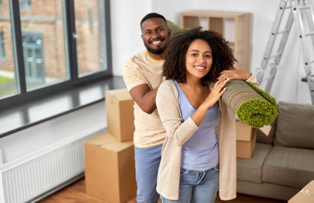 Happy Couple Renovating Home